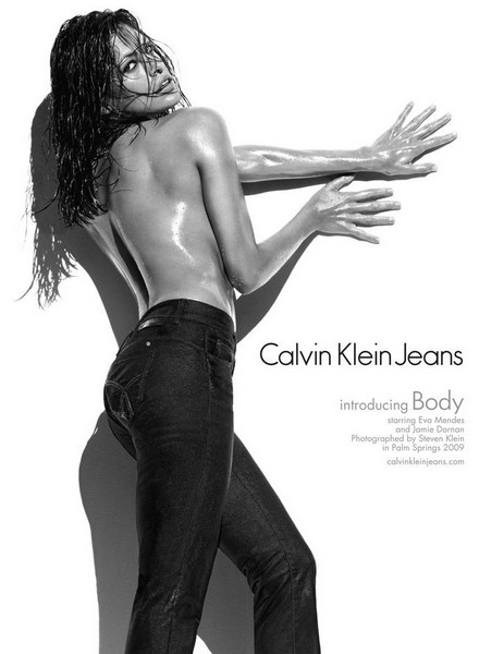 CK Jeans Advertising Campaign with Eva Mendes for 2009