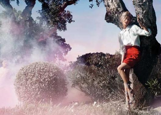 Anja Rubik: Fendi Spring 2010 ad campaign