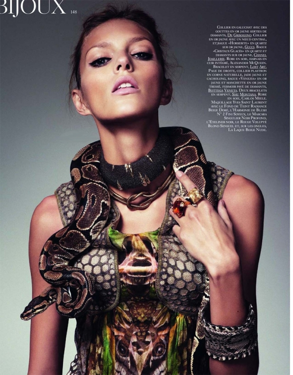 Anja Rubik in Vogue Paris, February 2010 (NSFW)
