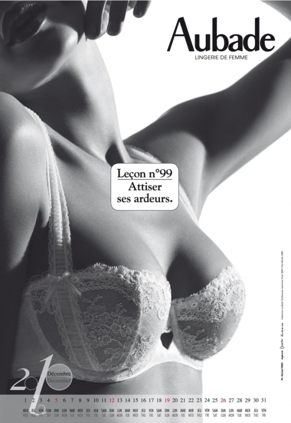 Aubade lingerie: 2010 calendar (NSFW)