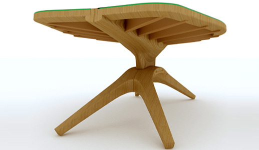 John lonsdeyl John Lonsdale Leaf table