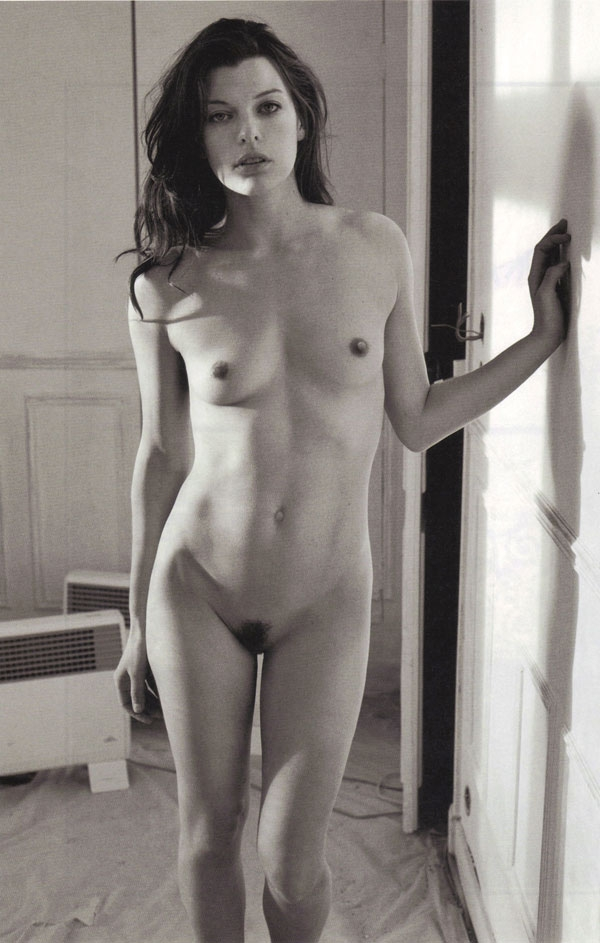 Milla Jovovich by Mario Sorrenti Purple Fashion Magazine Fall/Winter 2009 (NSFW)
